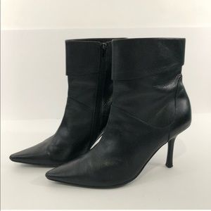 Aldo | Black Leather Heeled Boot 38